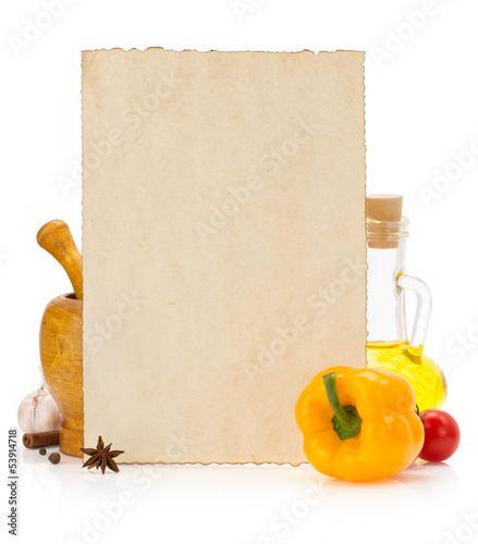 food ingredients and spices