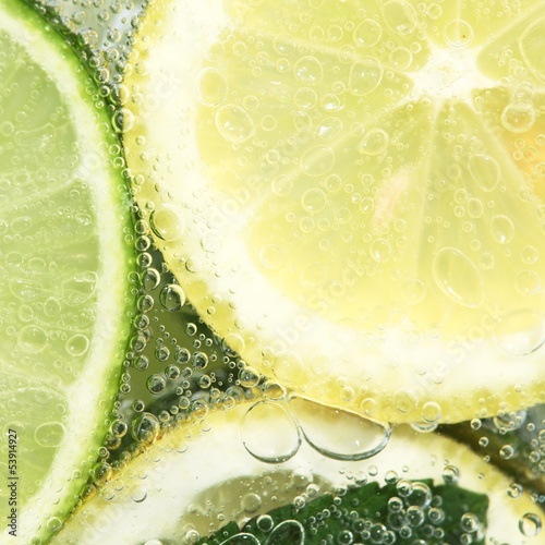 Close-up of glass with fresh summer drink