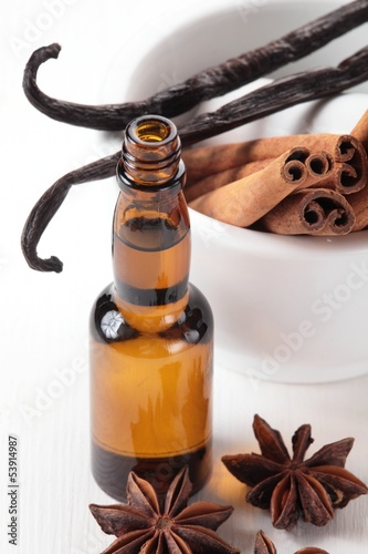 Vanilla extract and spices