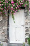 Trailing Roses on Garden Door