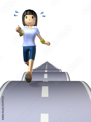 llustration that represents the long-distance runner