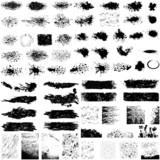Large set of grunge textures