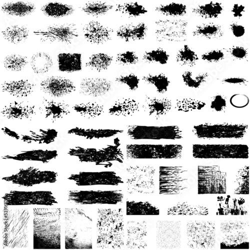 fototapeta na ścianę Duży zestaw grunge tekstury