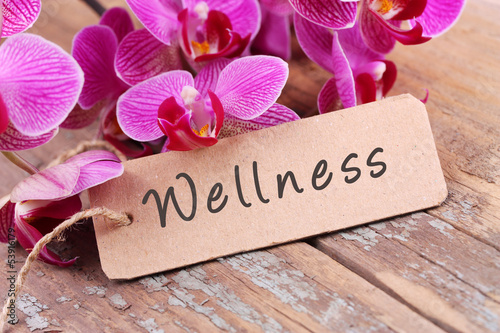 canvas print picture Wellness - Label