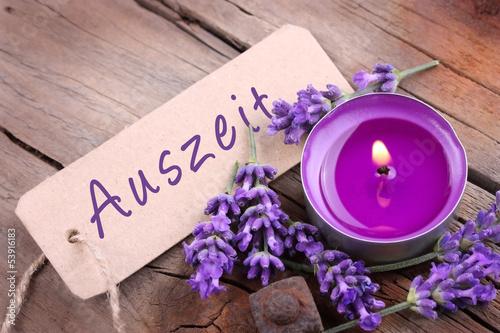 canvas print picture Auszeit mit Lavendelduft