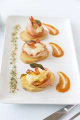 Shrimp On Potato Slices