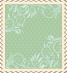 Vintage background with elements of floral pattern