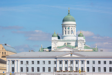 Lutheran Cathedral and Town Hall in Helsinki