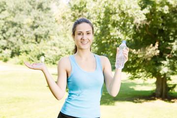 Happy fitness girl