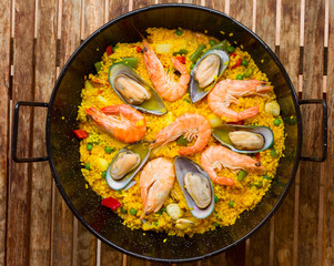 Seafood Paella  -traditional spanish dish