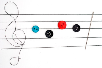 Musical notes on needlework