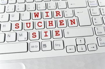 Helle Tastatur: Wir suchen Sie