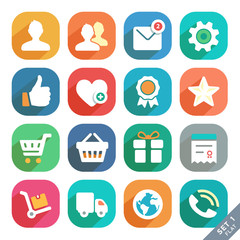 Universal Flat icons for Web and Mobile App. Profile, Favorites,