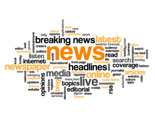 """NEWS"" Tag Cloud (live breaking headlines rss feed media button)"