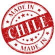 made in chile red round stamp
