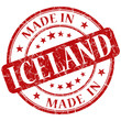 made in iceland red grunge stamp