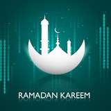 Vector illustration ramadan kareem bright colorful reflection de
