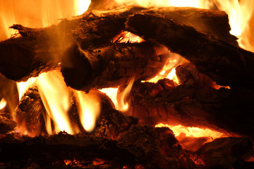 Firewood burning