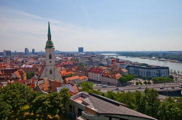 View of Bratislava city from Bratislava castle