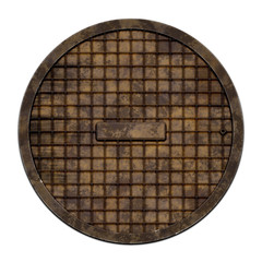 Round sewer cover (Manhole serie)