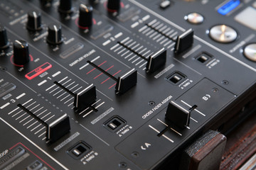 Professional line mixer with crossfader