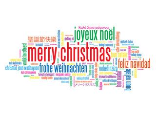 """""""MERRY CHRISTMAS"""" Card (happy xmas new year joyeux noël)"""