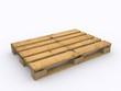 Neutrale Holzpalette