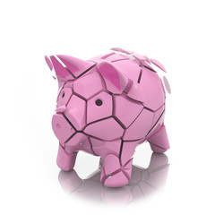 broken moneybox piggy