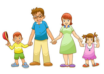 My family holding hand