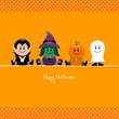 Halloween Vampire, Witch, Pumpkin & Ghost Dots