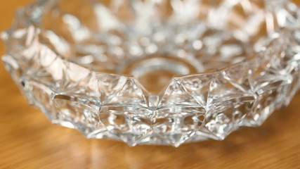Rotating Crystal ashtray.