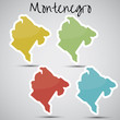 stickers in form of Montenegro