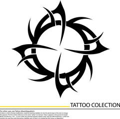 Hurricane tattoo sign, Vector
