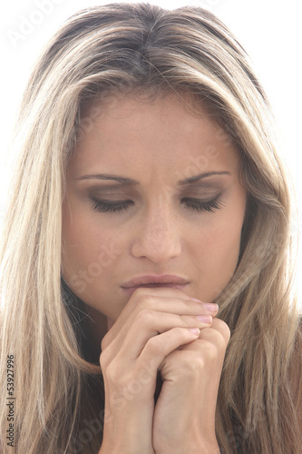 Model Released. Sad Upset Young Woman