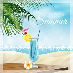 Spiaggia, estate, cocktail