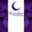 Ramadan Kareem (Generous Ramadan) card in vector format.