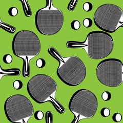 seamless pattern ping pong tennis racket