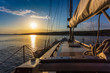 sunset at sea on aboard Yacht Sailing - 53928544