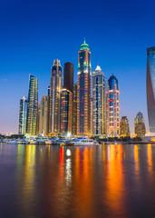 Nightlife in Dubai Marina. UAE. November 14, 2012