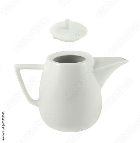 Leinwanddruck Bild Ceramic teapot isolated