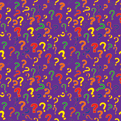 seamless pattern with question marks