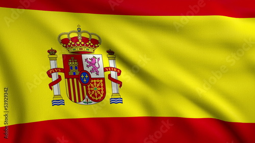 3d animation flag of Spain