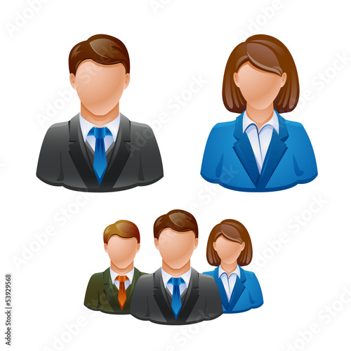 Business people avatar people icons