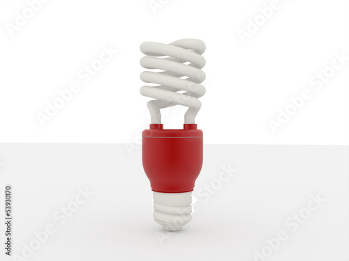 Economy light bulb isolated