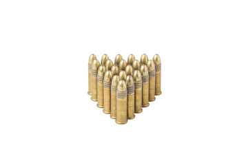 Group of .22 bullets standing up