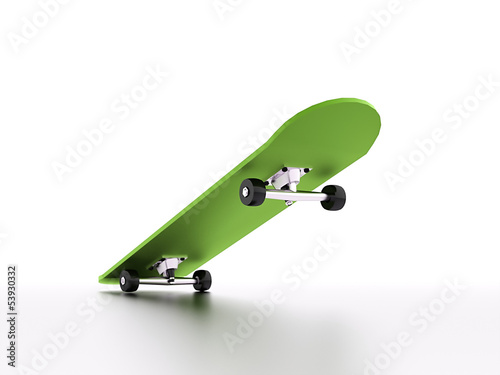 Skateboard with shadow