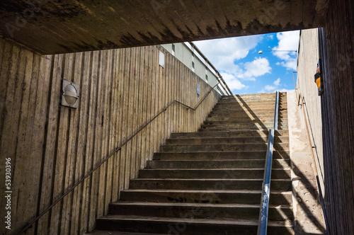 In de dag Underground staircase