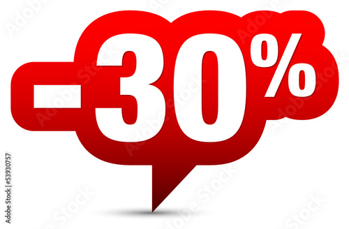 "Icon Sale ""-30%"" Red"