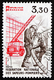 Postage stamp France 1982 Firefighters in Action