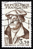 Postage stamp France 1983 Martin Luther German Priest